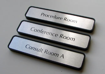 Conference room signs and consulting room signage for hospitals and waiting rooms