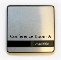 Conference Room In/Out Slider Signs