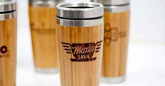 Personalized Bamboo Travel Mug