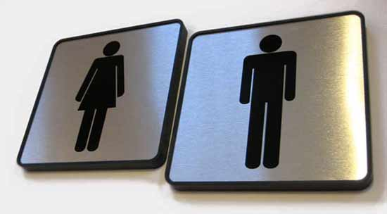 restroom mens room signs womens bathroom signs