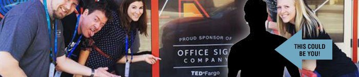 Office Sign Company Employee's at TEDx Fargo