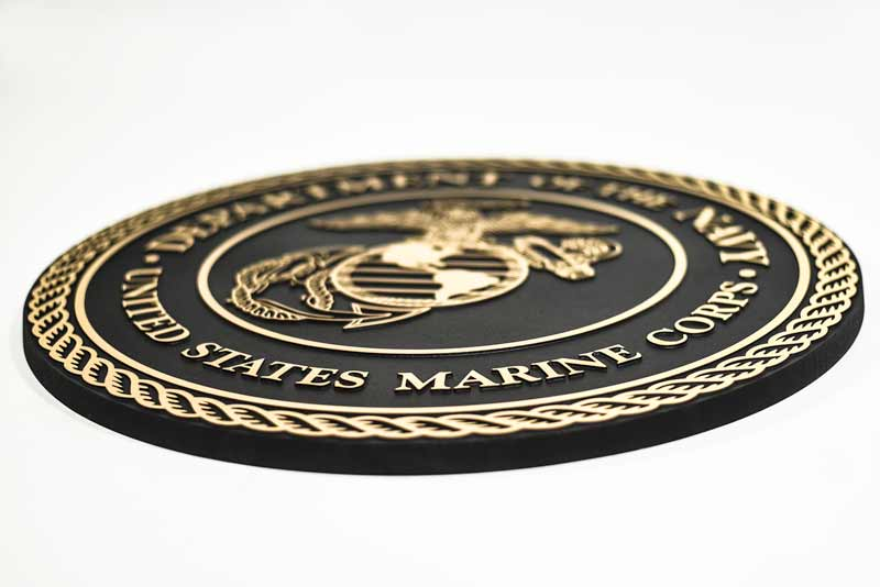 Army plaques navy emblems marines wall plaques cast for Plaque aluminium castorama