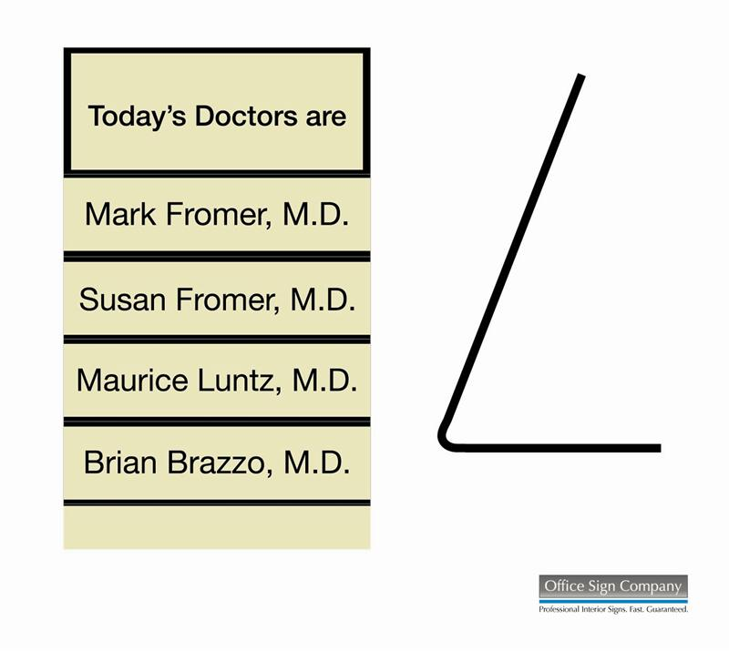 Desktop Doctors Nameplates In Signs Out Signs