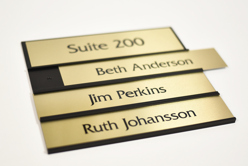 Office Name Plates: Interchangeable Name Plate Signs
