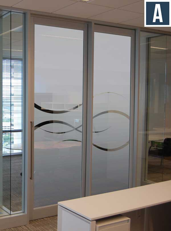 Privacy vinyl for glass doors frosted vinyl for for Window design group reviews