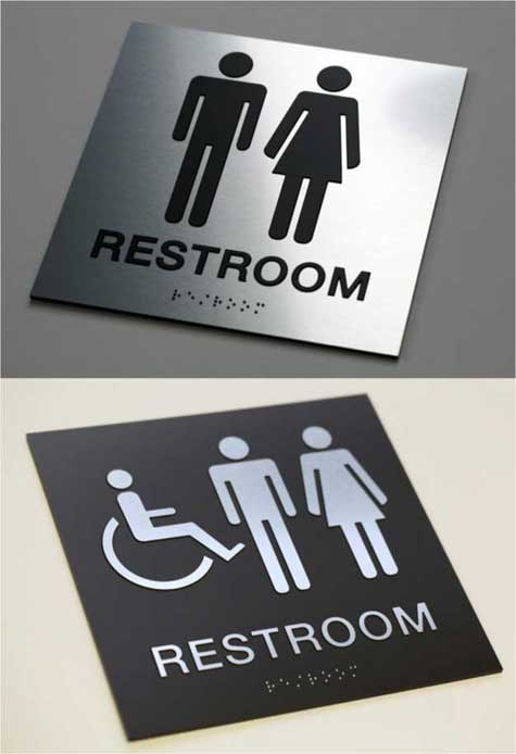 Bathroom Signs Braille ada mens womens braille restroom signs | ada braille bathroom signs