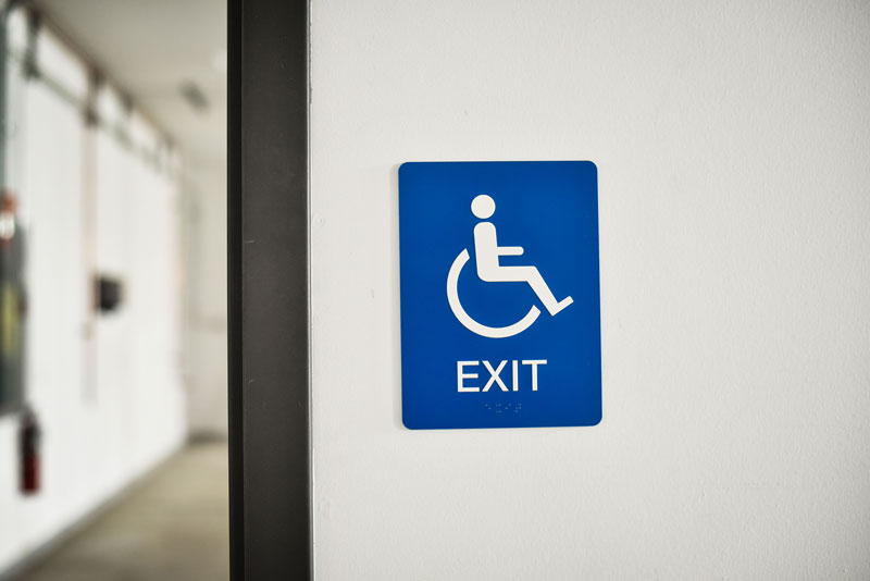 Ada Compliant Accessible Exit Signs Braille Exit Signs