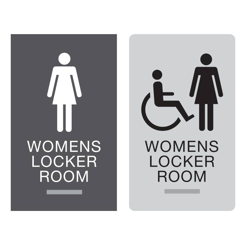 Braille Signs Womens Braille Locker Room Sign