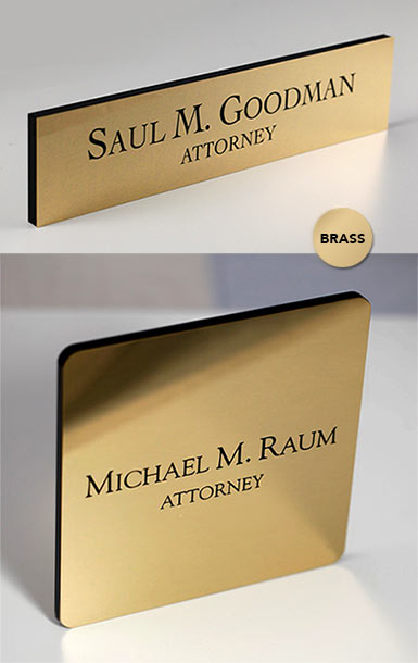 Brass Office Signs Brass Name Plates