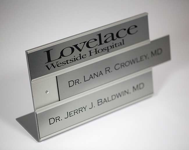 Changeble Insert Signs Doctor Name Plates