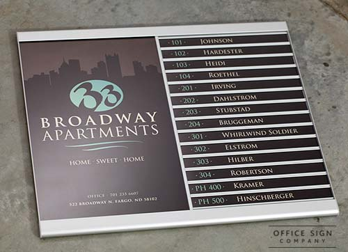 Wall Directory Signs Removable Insert Wayfinding Directories