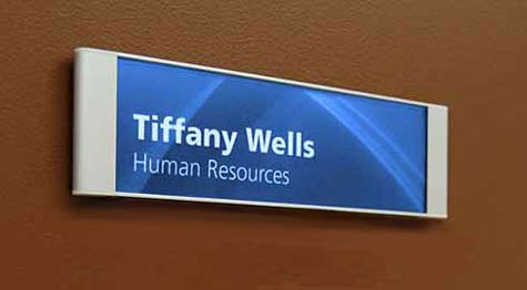 wall signs with removable lens | door signs with custom insert