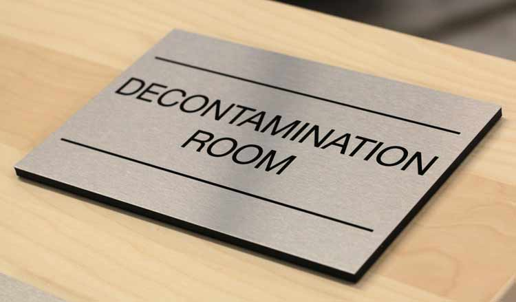 Premium Office Signs Brushed Metal Door Signs Corporate Office Signs