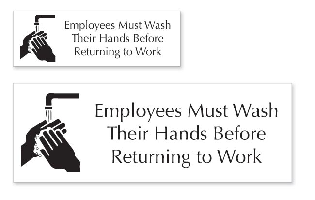 Bathroom Signs And Pictures restroom and bathroom signs | employees must wash hands