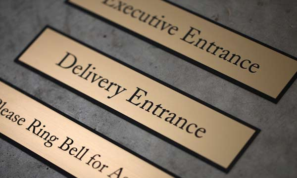 engraved office signs for interior and exterior signage engraved