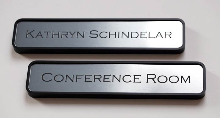 Office Name Plates: Engraved Employee Office Signs