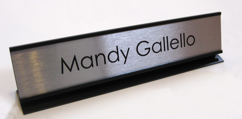Office Desk Name Plates Amp Custom Metal Office Signs Desk