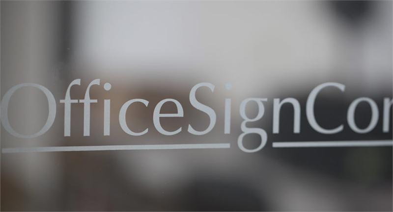 Office window vinyl names on windows frosted glass employee names - Glass office door signs ...