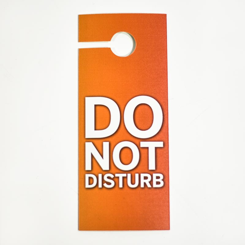 Do Not Disturb Signs Custom Hang Tags For Hotel Doors