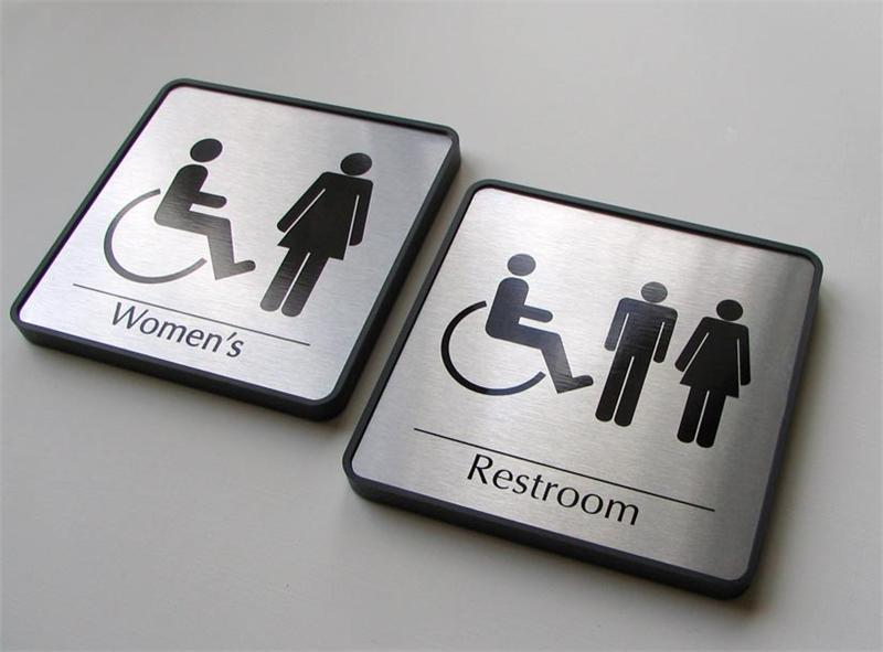 Bathroom Sign Handicap mens restroom sign | womens restroom signs | family, handicapped
