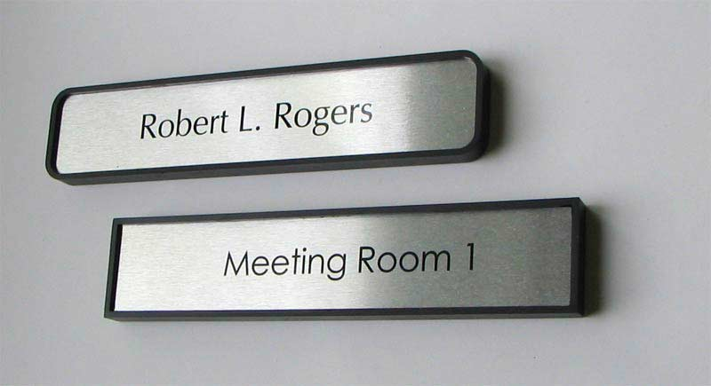 office door name plates | metal office signage