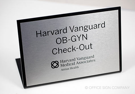 Interior Office Signs & Desk Name Plates | Standing Check-Out Signs