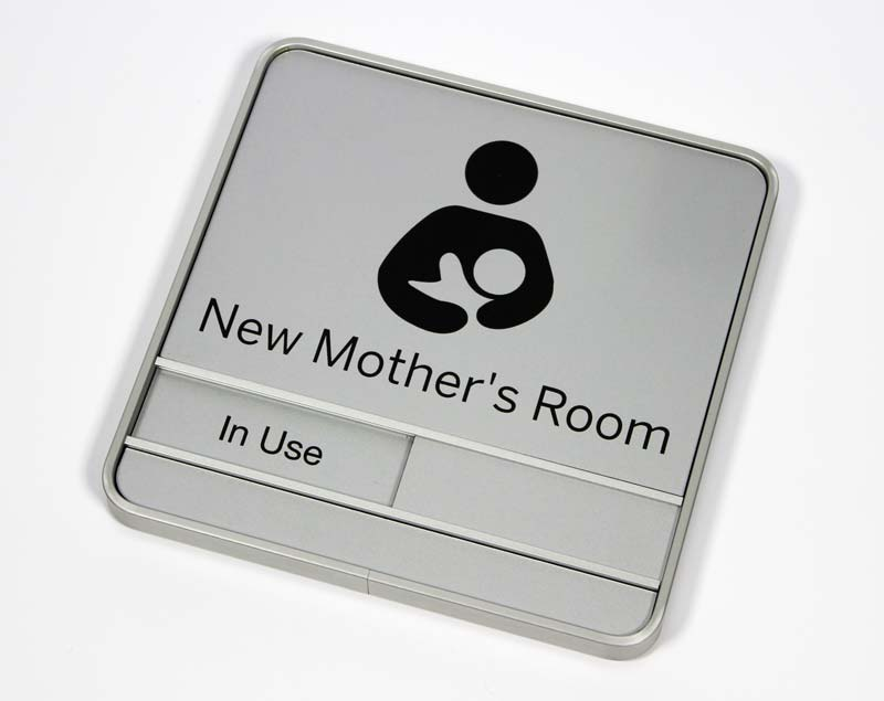Empty office room with window - Sliding Nursing Mothers Room Signs Occupied Availabile Slider Signs