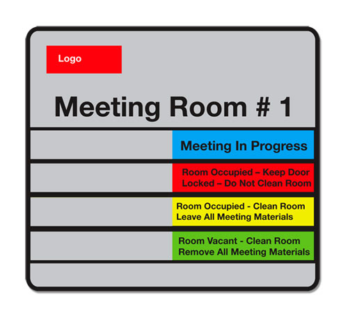 custom office door signs with slider tab