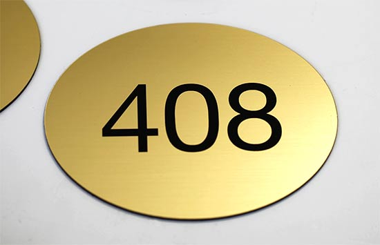 Oval Room Number Signs Engraved Oval Signs