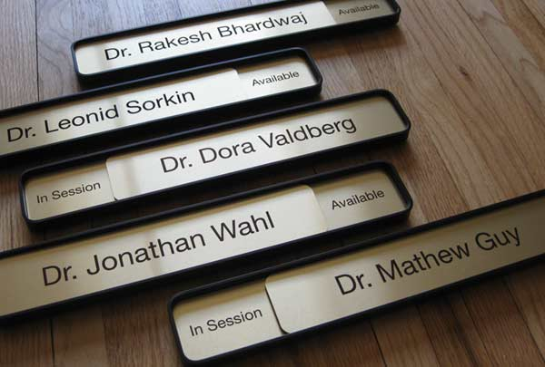 Sliding Message Office Name plate Signs | Interior Availability ...