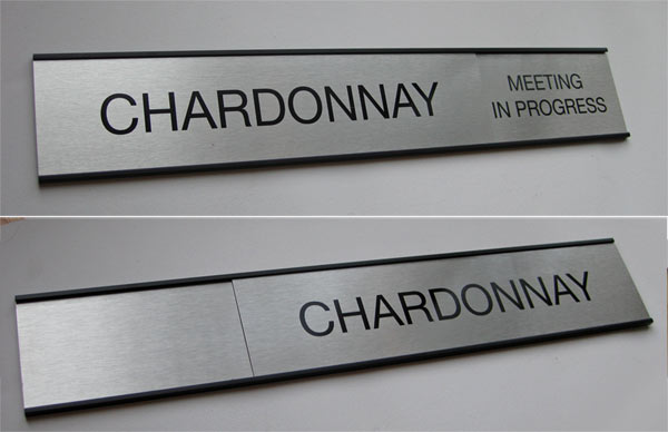 sliding message office sign | in/out door signs