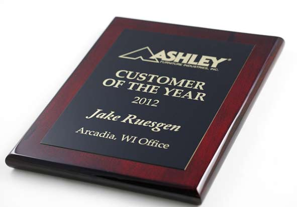 Personalized Wood Plaques W Brass Plate Office