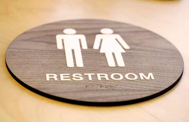 Ada Bathroom Signage stylish restroom signs ada braille - wood bathroom signs