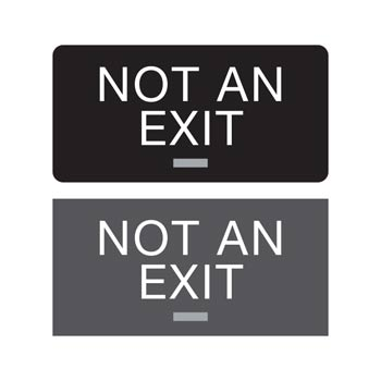 "4"" x 8"" Americans with Disabilities Act (ADA) Braille Not An Exit Signs"