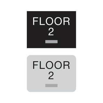 Compliant ada floor number signs braille floor number sign for Floor number sign