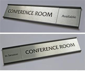 sliding conference room signs & employee signage
