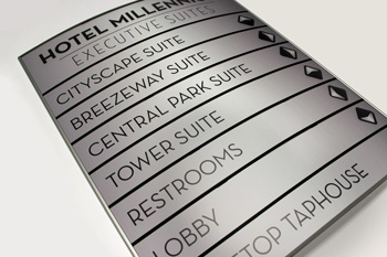 Hotel Curved Face Directory Signs & Office Signs