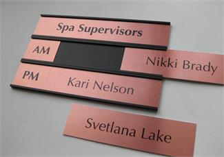 Office Name Plates & Stacking Signs