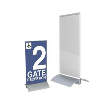 Interchangeable Desk Sign with Acrylic Holder Inserts