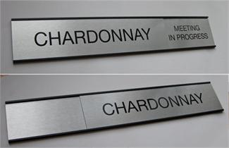 Sliding Messge Office Door Signs and Employee Name Plates