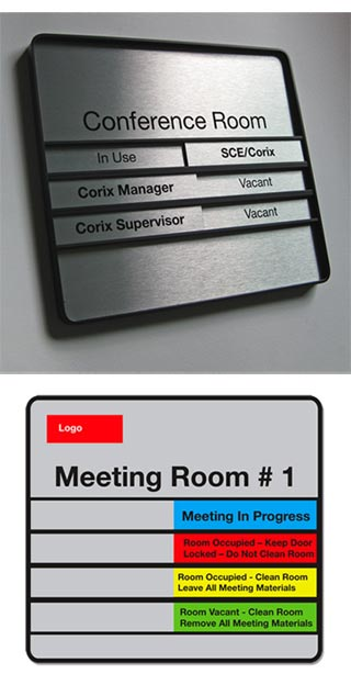 Sliding In Out Office Door Signs - Availability Signs