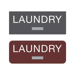 Americans with Disabilities Act (ADA) Braille Laundry Signs 2