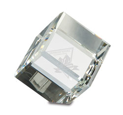 Crystal Cube Paper Weight