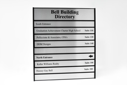 Custom Full Color Directory Sign with Metal Frame and Metal Plates
