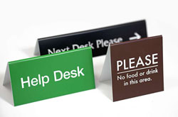 Table Top Tent Signs & Counter Signs 2 sided
