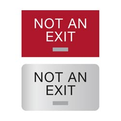 "3"" x 5"" Americans with Disabilities Act (ADA) Braille Not An Exit Signs"