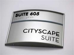 Curved Office Sign from Office Sign Company