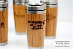 Engraved Travel Mug in Stylish Bamboo