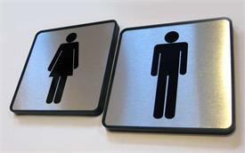 Custom Restroom Signs for Contemporary Look