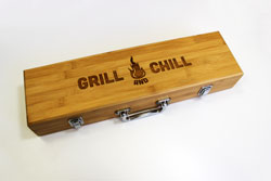 Stainless Steal Grill Set with Engraving
